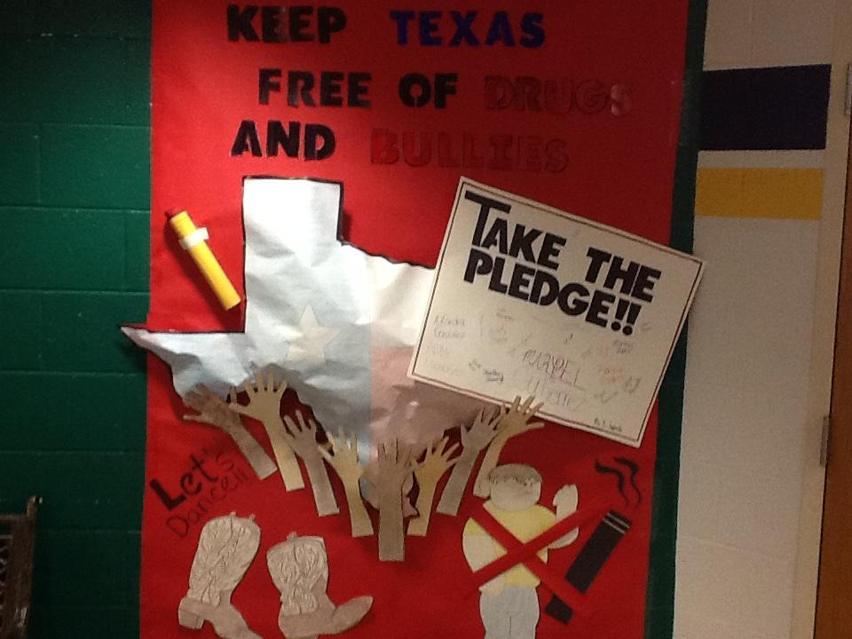 "Keep Texas Free of Drugs and Bullying"" Anchor Chart"