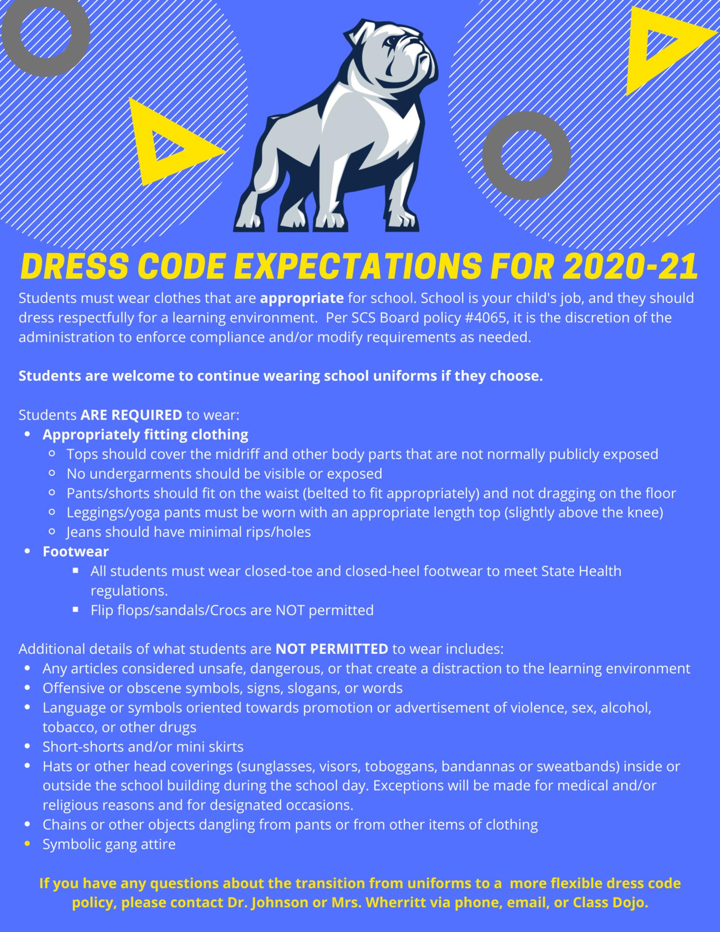 Dress Code pg. 2
