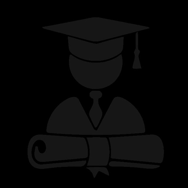 grad with diploma