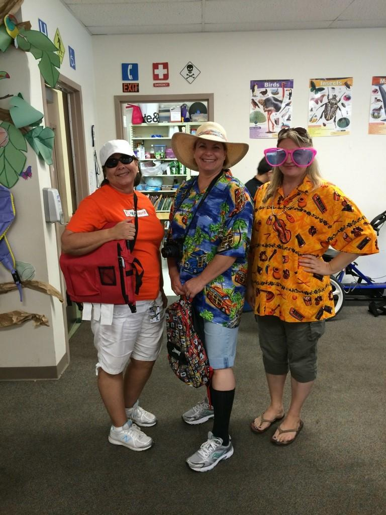Teachers show their spirit on