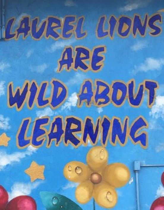 Photo of mural at Laurel Elementary School.