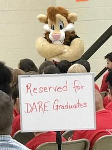 Daren the Lion at D.A.R.E graduation.