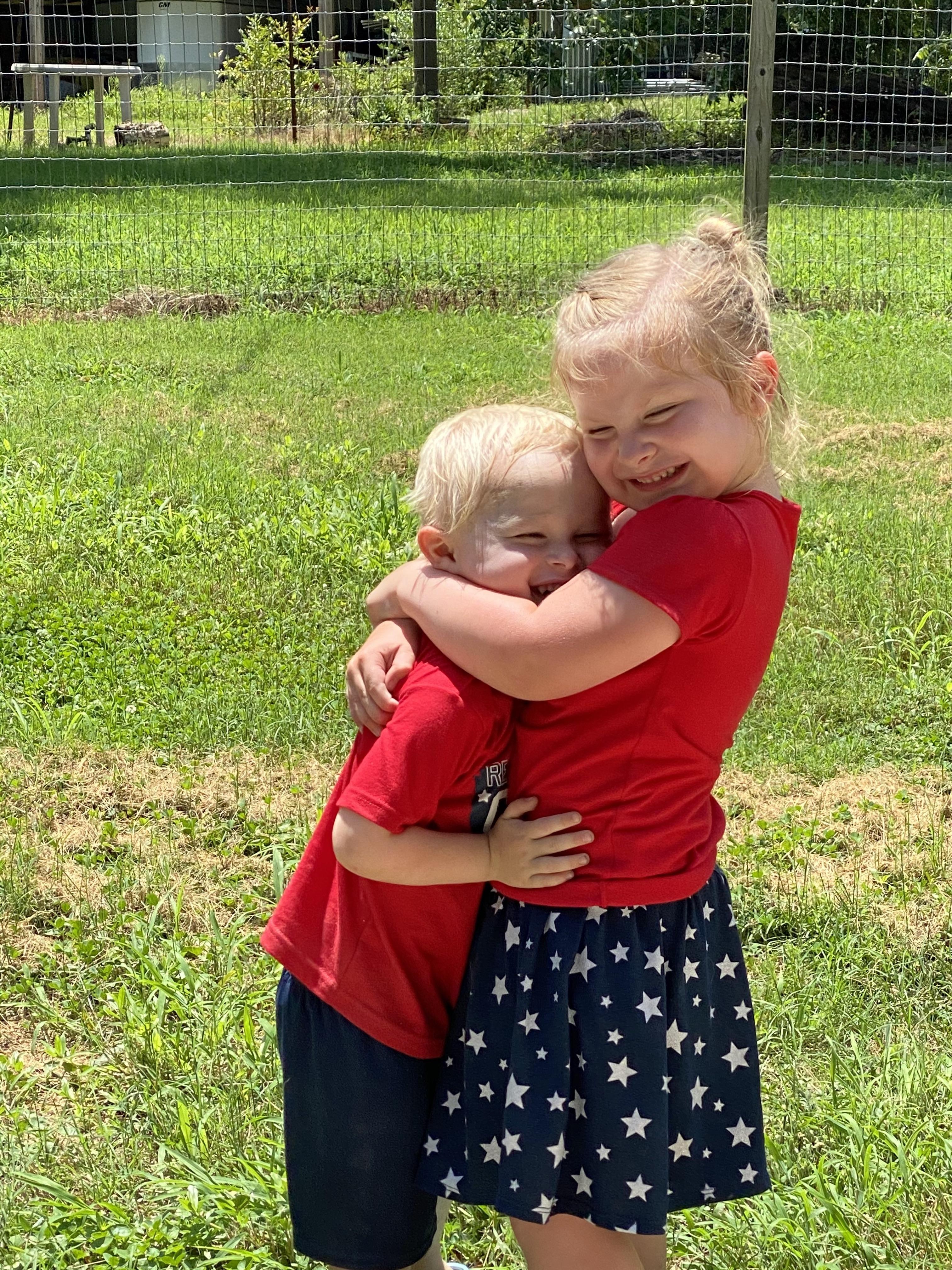 Sweet hugs!