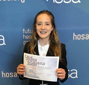 Ella James McCalla at International HOSA Conference