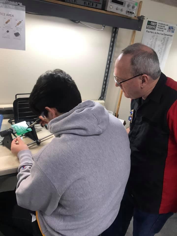 Robotics students at Moreno Valley