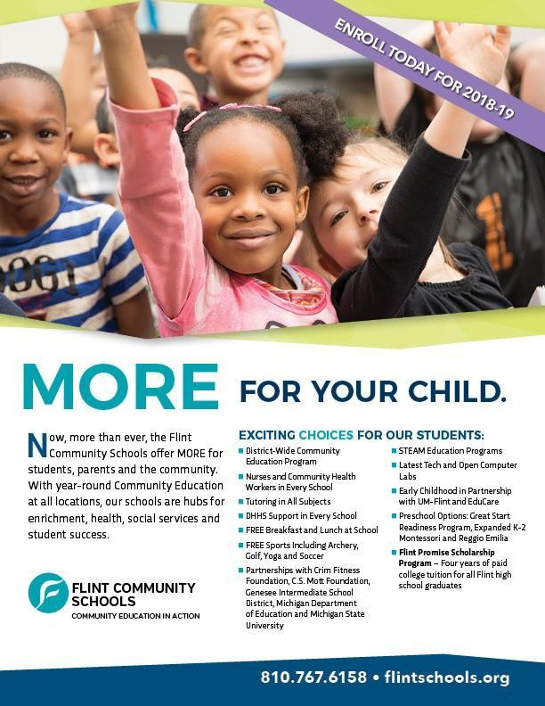 MORE for your child at Flint Community Schools Thumbnail Image