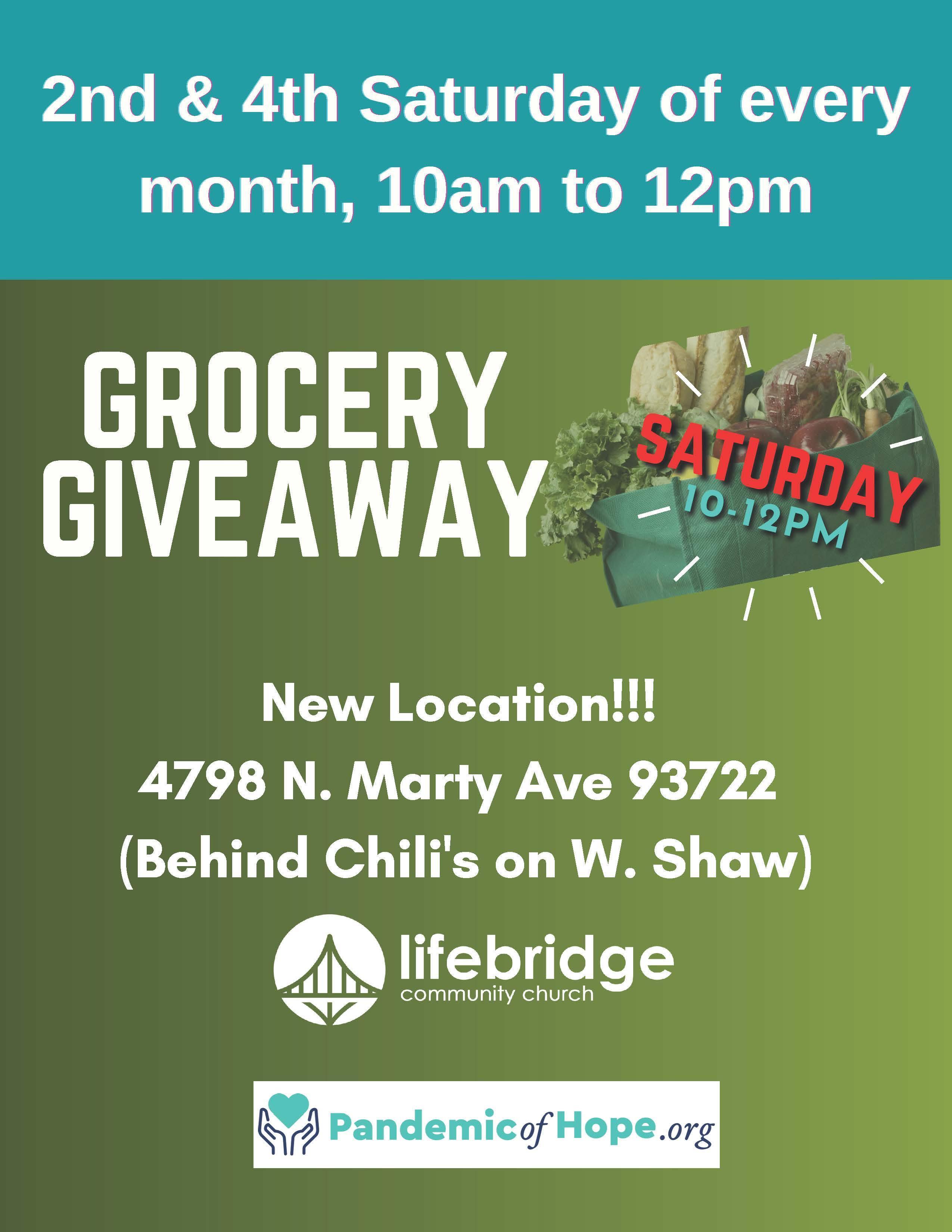 Life bridge Church Grocery Giveaway