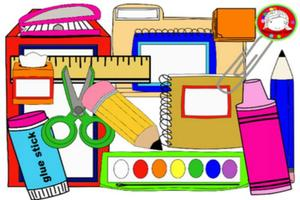 This is a picture of different School Supplies.