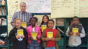 Picture of Wilson Rotary providing dictionaries