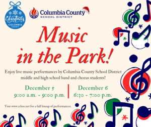 music in the park inforgraphic