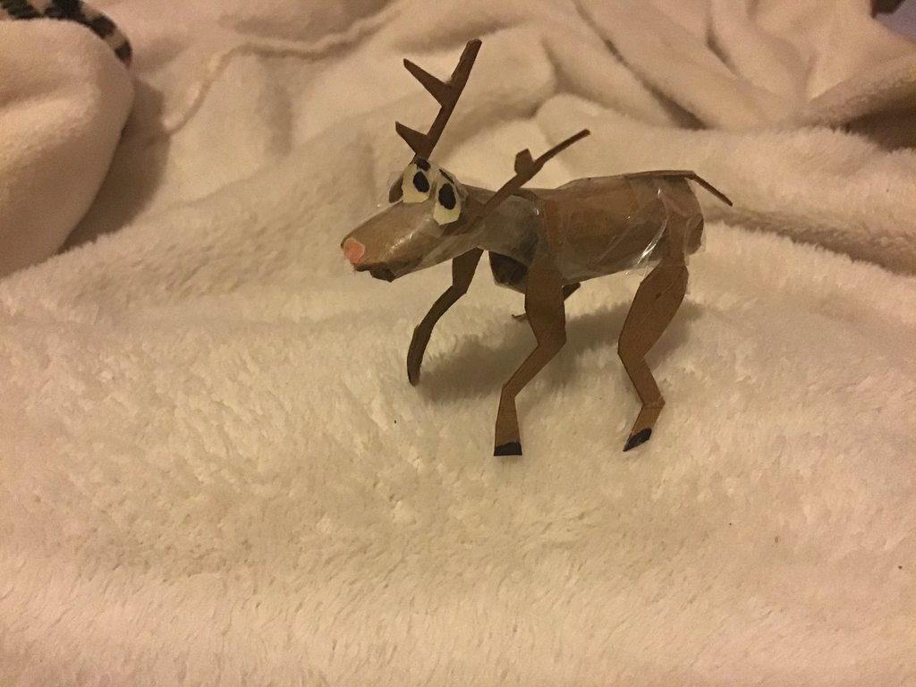 reindeer craft by student
