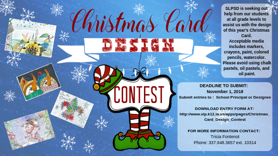 SLPSB Christmas Card Contest info sheet