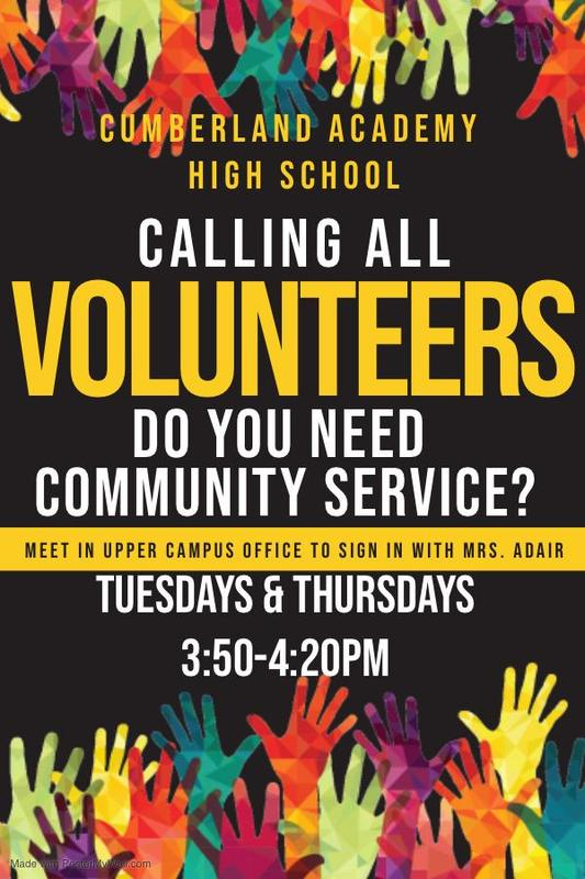Need Community Service Hours?? Featured Photo