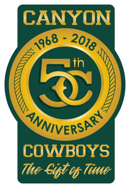 Canyon Cowyboys 50th Anniversary 1968-2018