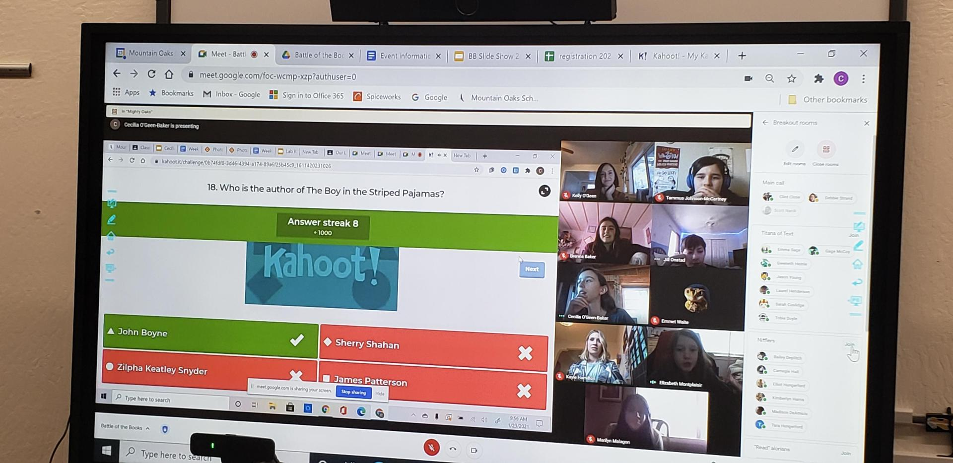 screenshot of virtual event