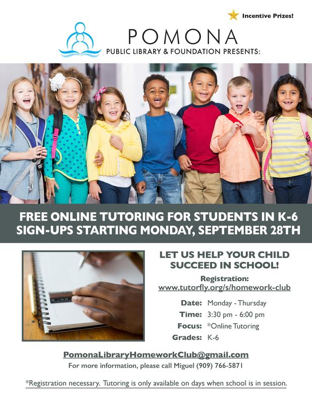 Free online tutoring for students in K-6. Sign-Ups Starting Monday, September 28TH