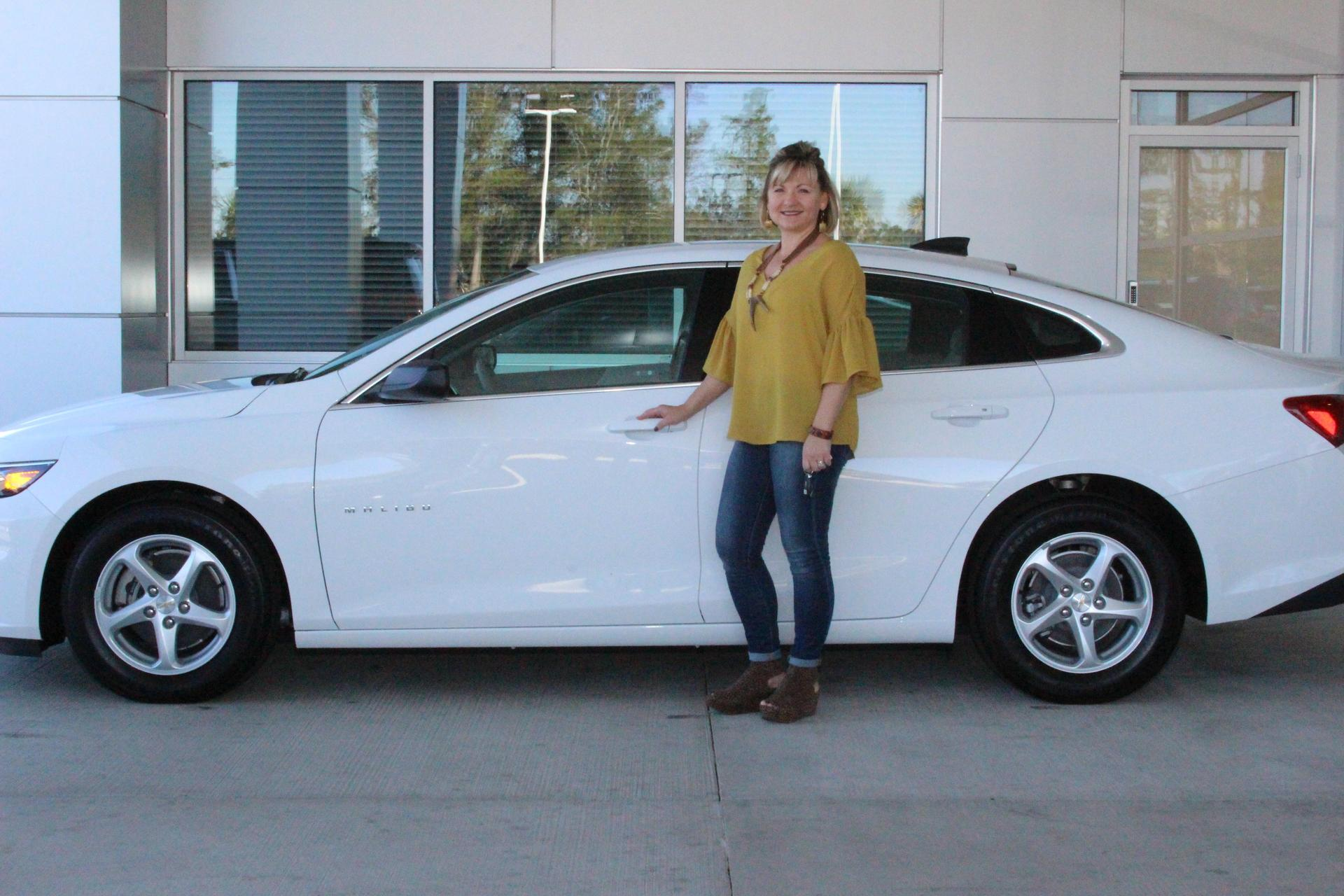Amy receives her car from Herlong Chevrolet