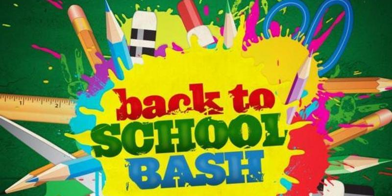 Back to School Bash! August 1st 5:00 pm-6:30 pm Thumbnail Image