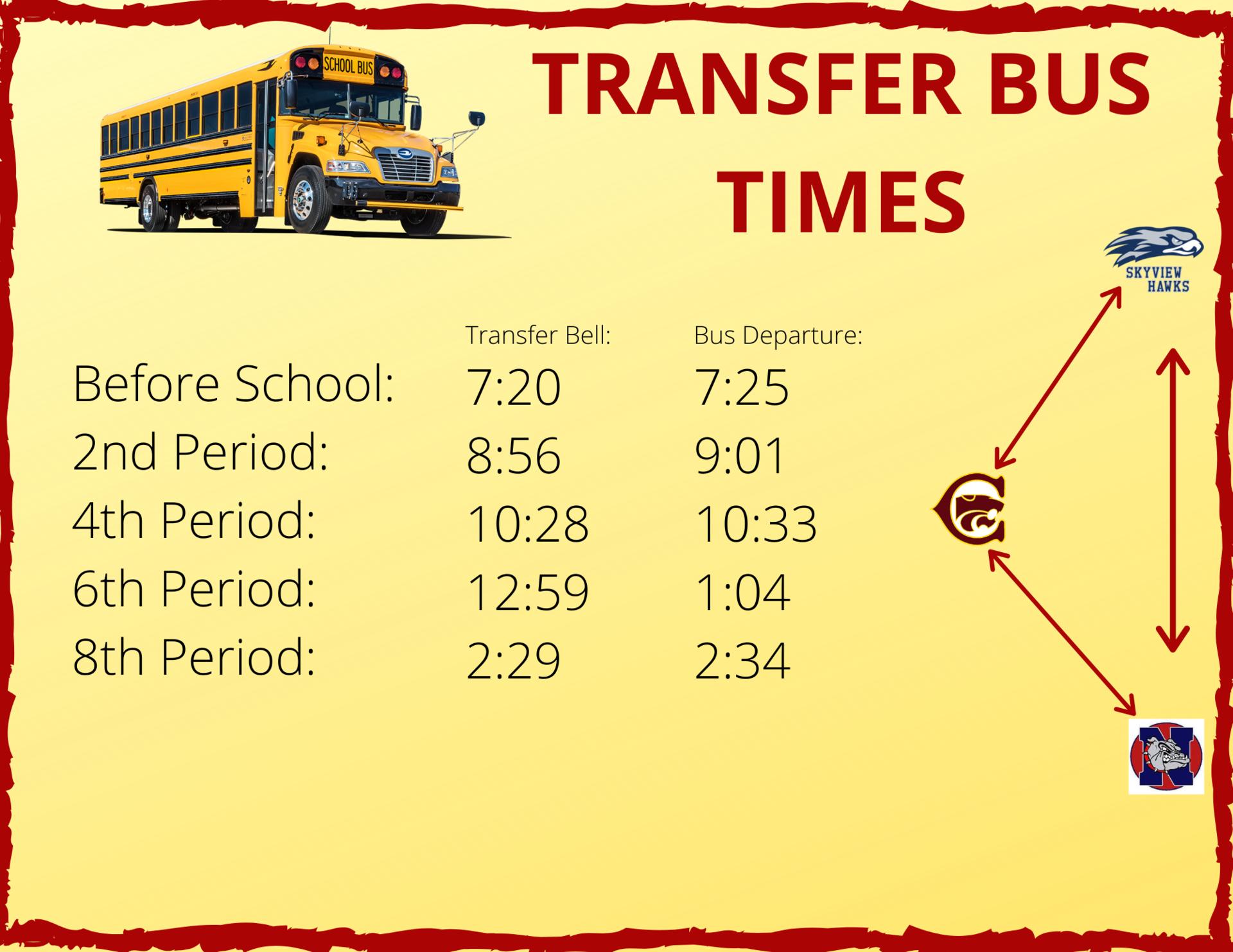 Transfer Bus Times