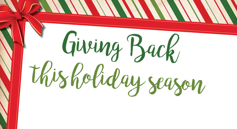 Giving back this holiday season! Featured Photo