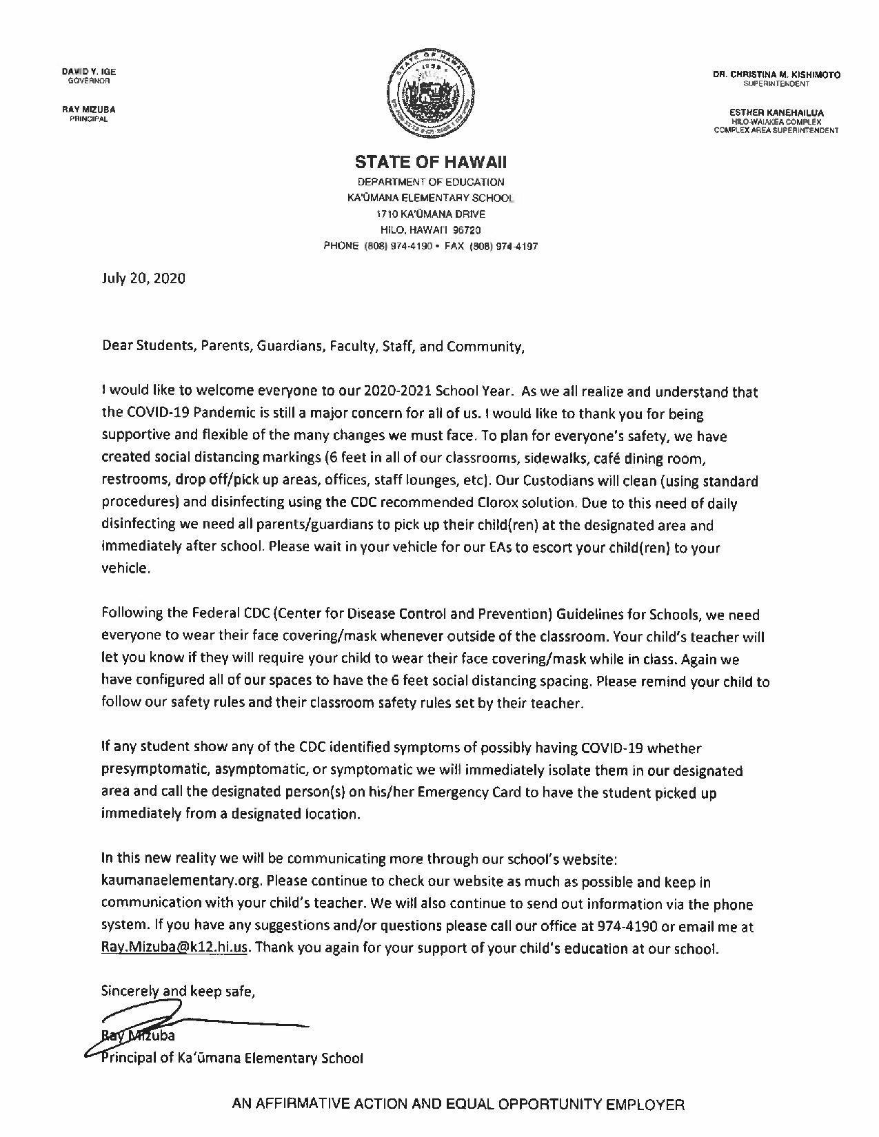 Letter from Principal - July 20, 2020 - Welcome to 2020-2021 School Year-page-001