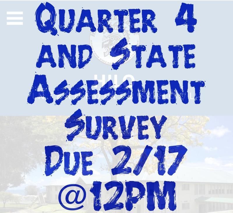 Quarter 4 Survey (Deadline Extended till Friday, Feb. 26) Featured Photo