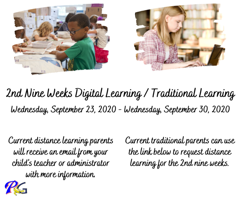 2nd nine weeks distance or traditional learning