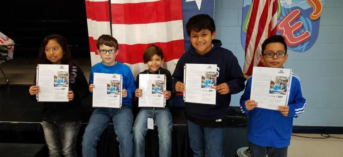 4th Grade Duke Talent Search Winners