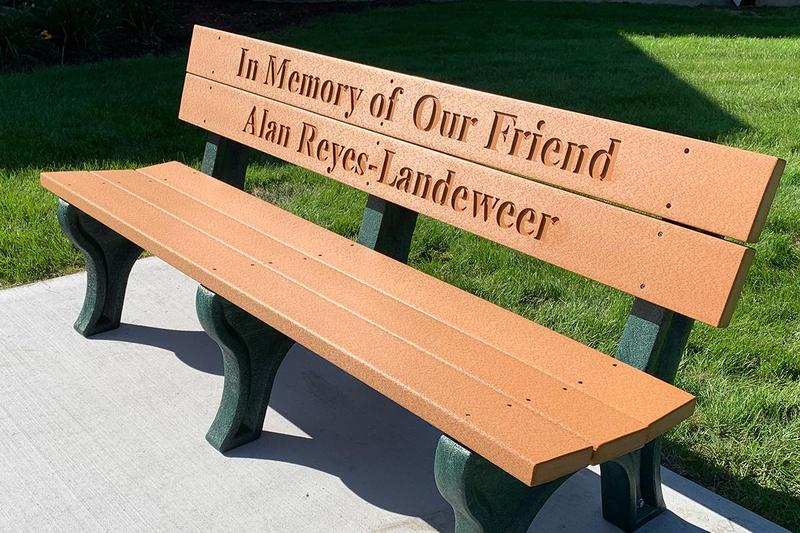 Memorial bench honors former D124 student Thumbnail Image