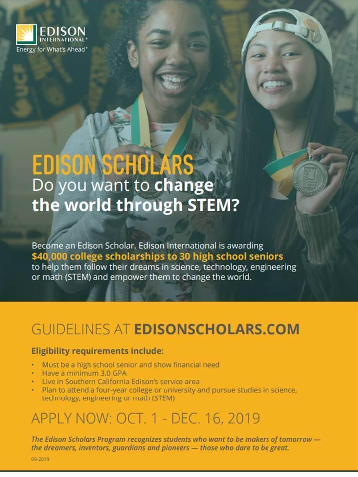 Senior Scholarship Opportunities – School and College