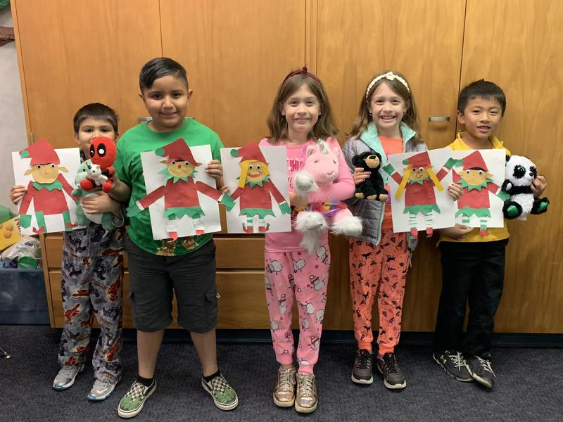 students show art work