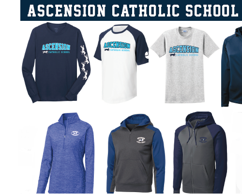 Support Ascension school and look good doing it in Ascension Spirit Wear! Featured Photo