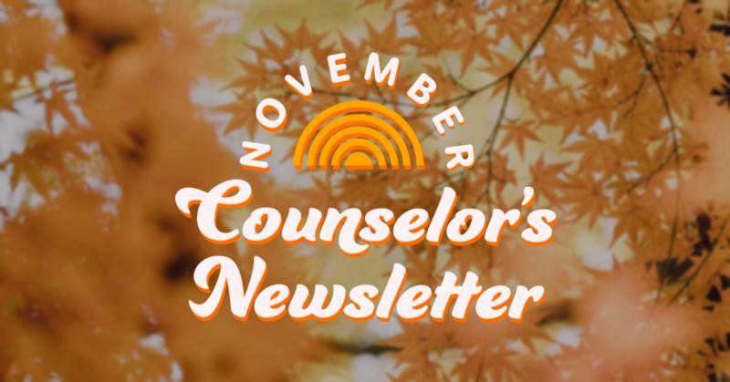 November Counselor's Newsletter
