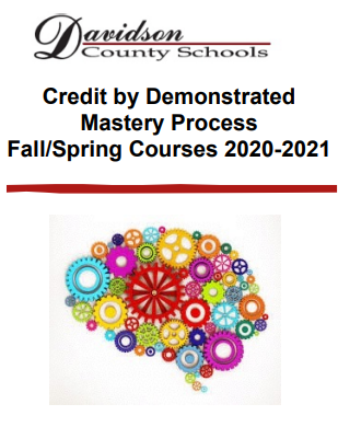 Credit By Demonstrated Mastery Due Dec 20th, 2019