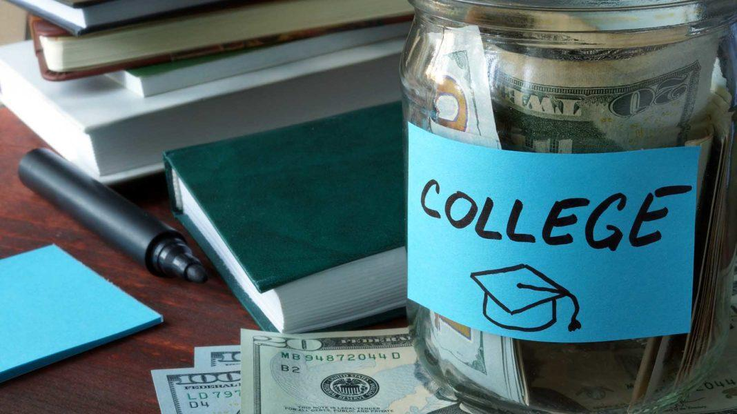 college-jar-label-with-money-on-table