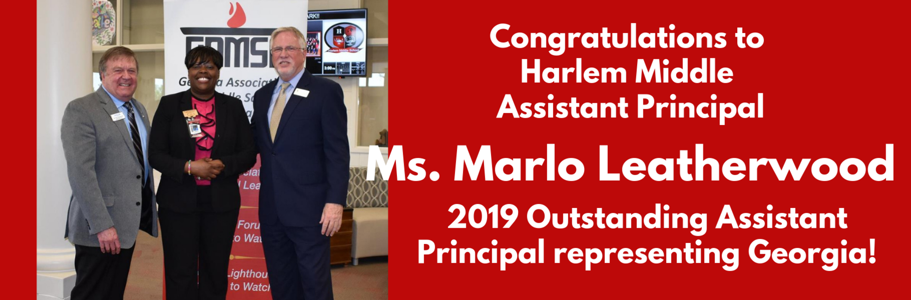 Marlo Leatherwood wins Outstanding Assistant Principal