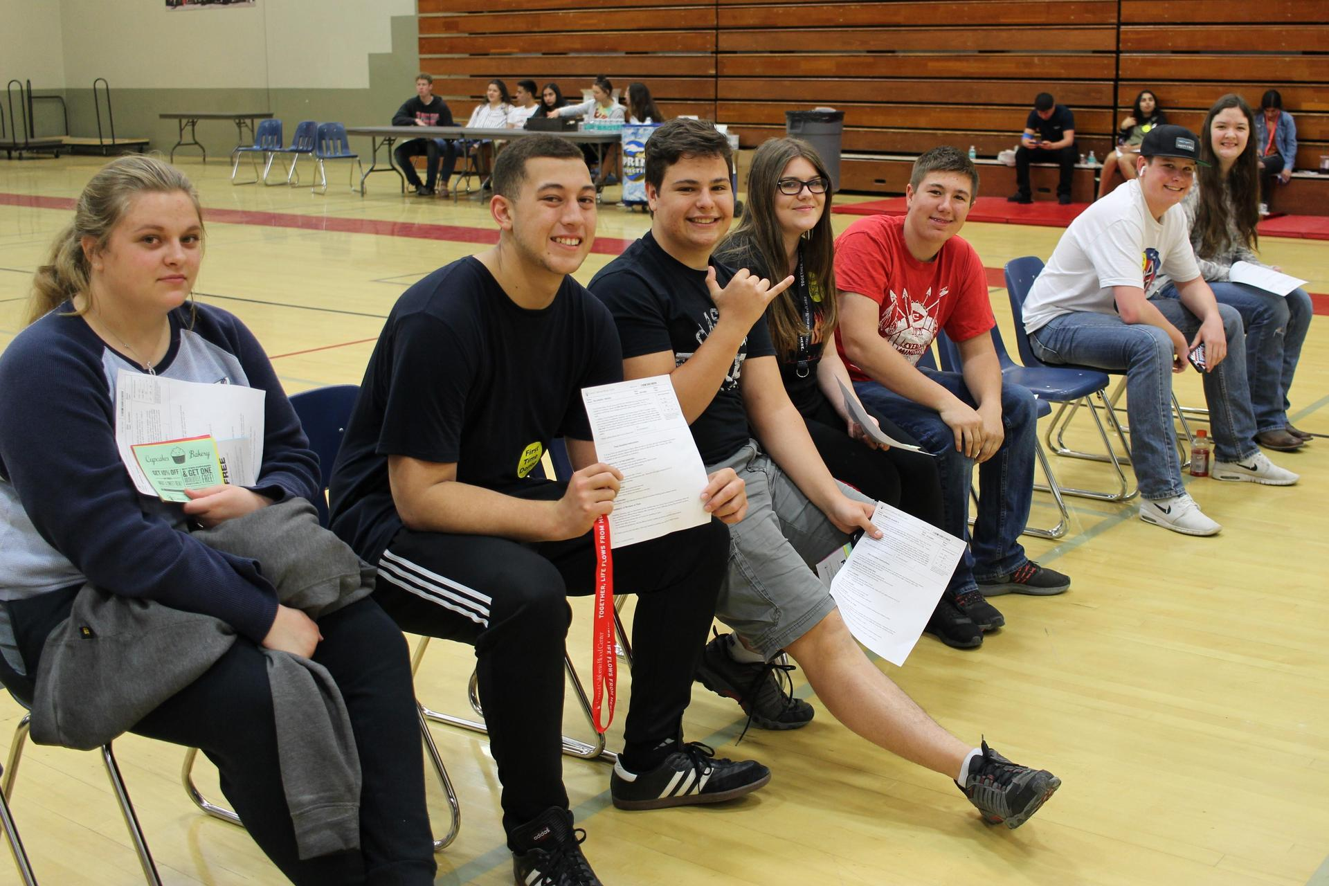 Students at the Blood Drive