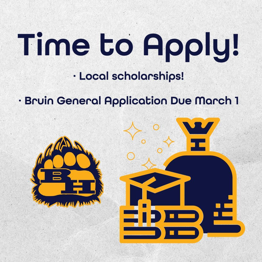 Bruin General Scholarship reminder