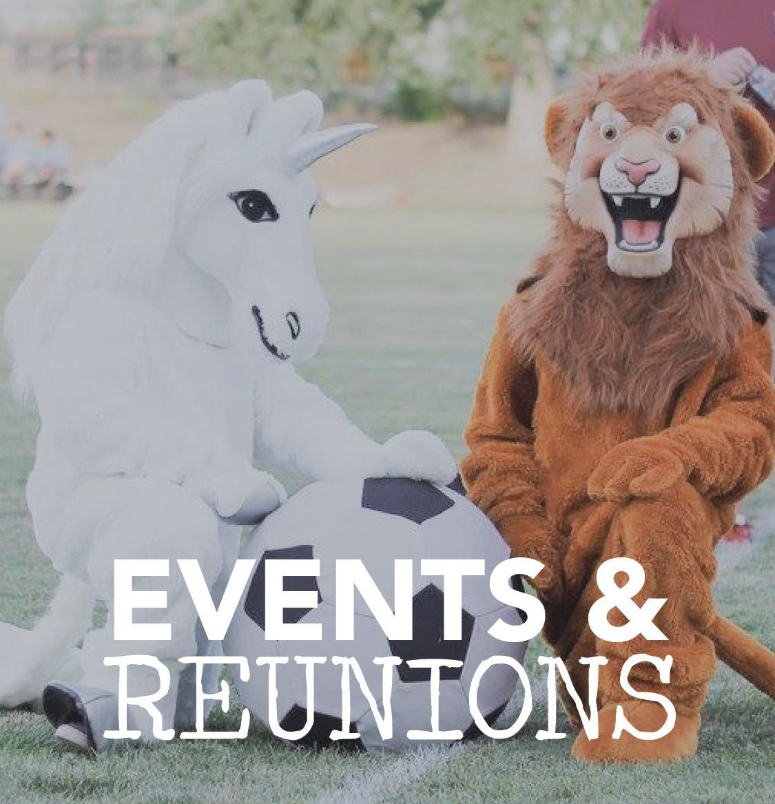 Events and Reunions button