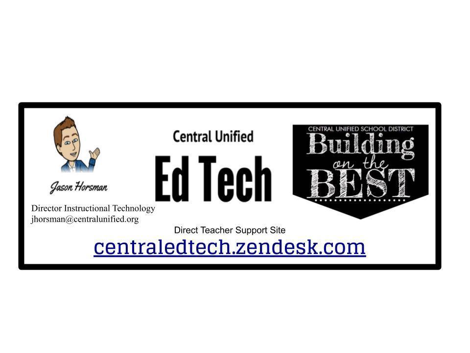 Educational Technology Help Banner