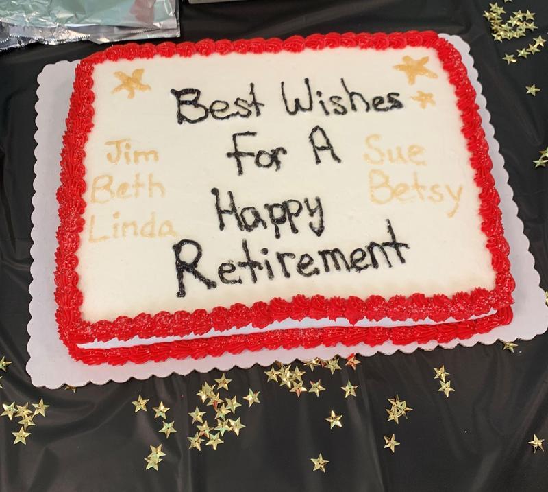 Cake!  Congratulations retirees!