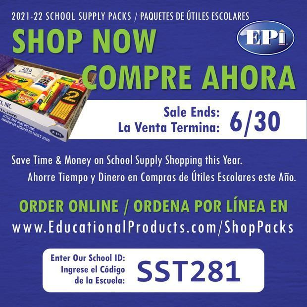 SCHOOL SUPPLY SALE HAS BEGAN, SALE ENDS JUNE 30! Featured Photo