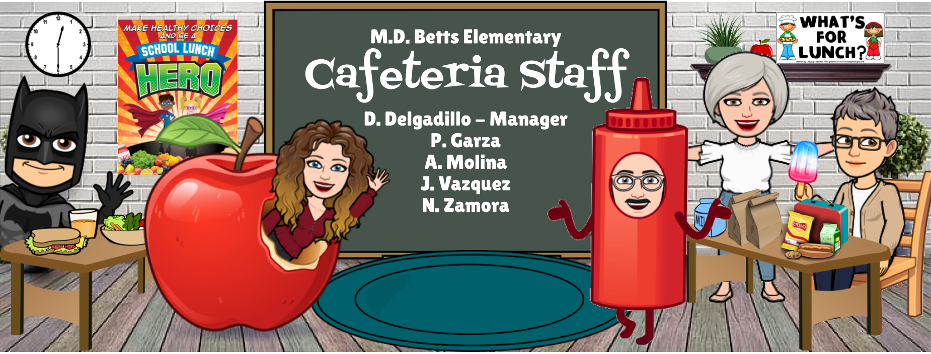 Image of Betts Bitmoji Staff - Cafeteria