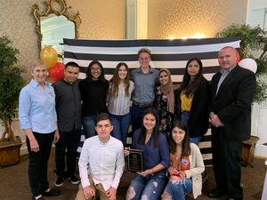 Shafter High School wins award for most units of blood donated through Houchin Community Blood Bank.