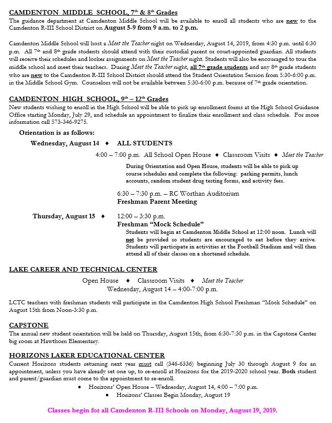 enrollment info page 2