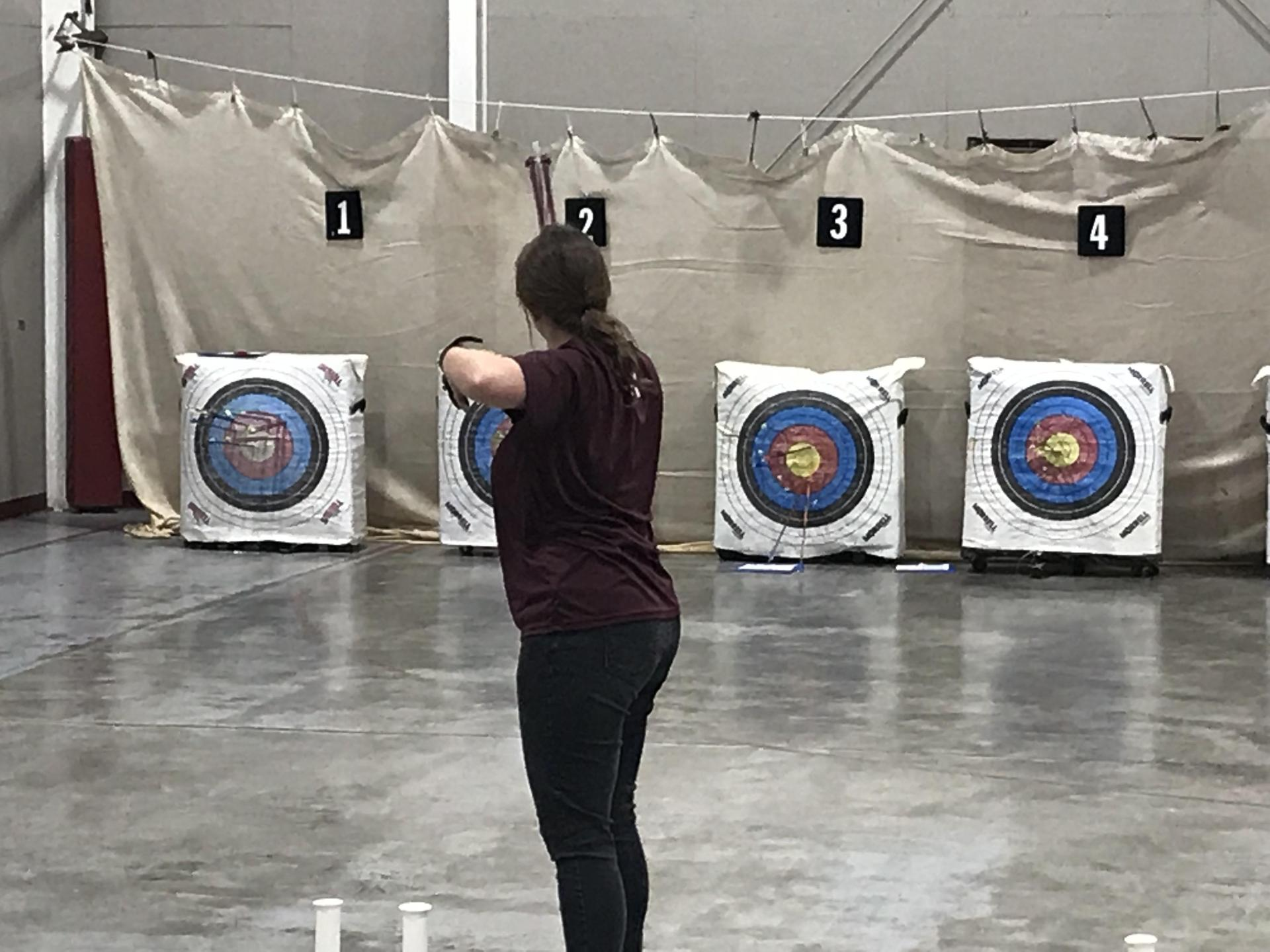 Clarkdale archery athlete competing.