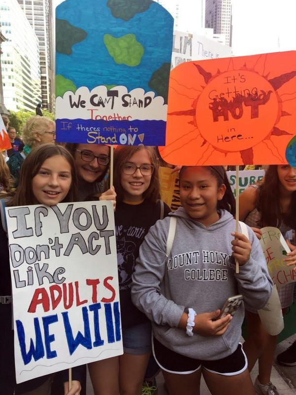 Green Woods Students Participate in the Climate Strike! Featured Photo