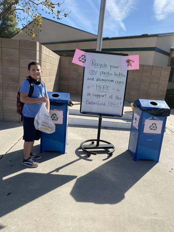 Student recycling