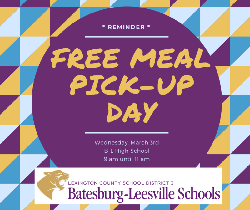 Free Meal Pick-Up Event Scheduled for March 3rd