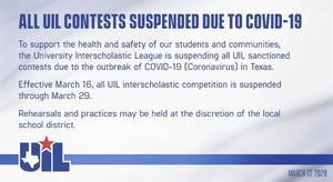 UIL Suspended